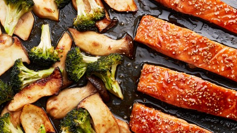 Salmon With Broccoli wallpapers high quality