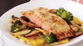 Salmon With Broccoli Wallpaper Gallery