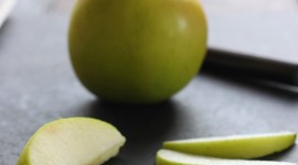 Sliced Apple Wallpaper For IPhone Free
