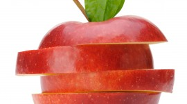 Sliced Apple Wallpaper For Mobile