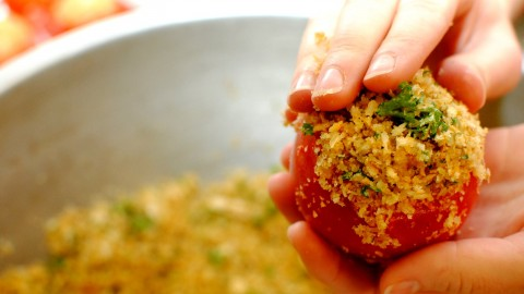 Tomatoes With Garlic And Cheese wallpapers high quality