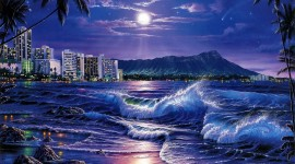 Wave Night Image Download