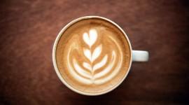 4K Coffee With Foam Desktop Wallpaper