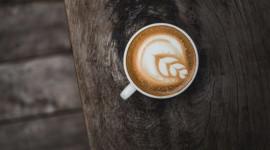 4K Coffee With Foam Photo Free