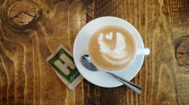 4K Coffee With Foam Photo Free#1