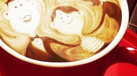 4K Coffee With Foam Wallpaper For IPhone