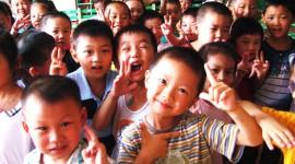 Chinese Children Wallpaper Background