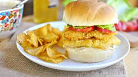 Fish Burger Wallpaper HD