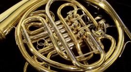 French Horn Desktop Wallpaper