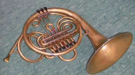 French Horn Wallpaper