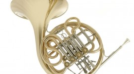 French Horn Wallpaper HQ