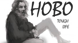 Hobo Tough Life Wallpaper For IPhone