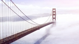 4K Bridge Fog Photo Download