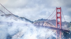 4K Bridge Fog Wallpaper For Desktop