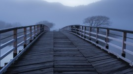4K Bridge Fog Wallpaper For IPhone Free