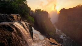 Forest River Sunset Wallpaper 1080p