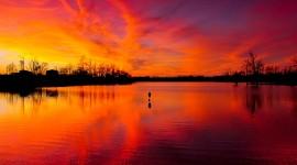 Scarlet Sunset Best Wallpaper