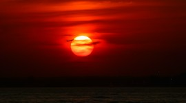 Scarlet Sunset Desktop Wallpaper For PC