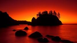 Scarlet Sunset Wallpaper