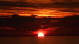 Scarlet Sunset Wallpaper For Desktop