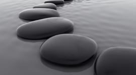 Stones In Water Wallpaper Free