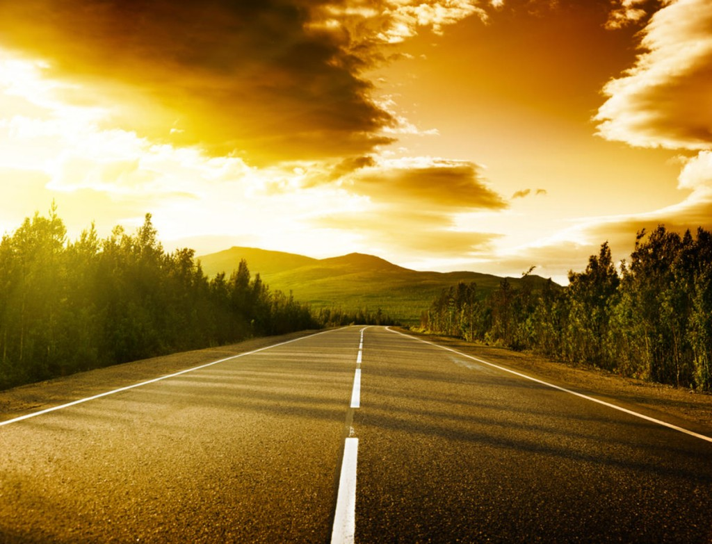 Sunset On The Road wallpapers HD