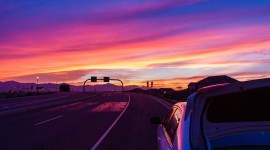 Sunset On The Road Image Download