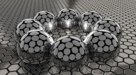 4K Ball Cubes Metal Desktop Wallpaper