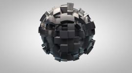 4K Ball Cubes Metal Desktop Wallpaper HD