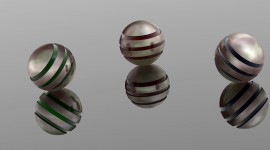 4K Ball Cubes Metal Image Download