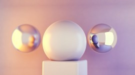 4K Ball Cubes Metal Photo Download