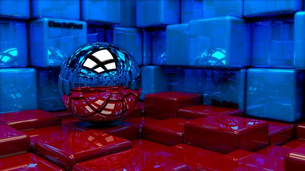 4K Ball Cubes Metal wallpapers HD