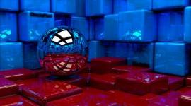4K Ball Cubes Metal Wallpaper