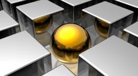 4K Ball Cubes Metal Wallpaper Download
