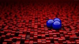 4K Ball Cubes Metal Wallpaper For PC