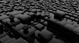 4K Ball Cubes Metal Wallpaper Free