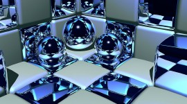 4K Ball Cubes Metal Wallpaper Gallery
