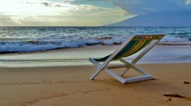 4K Beach Chairs Desktop Wallpaper