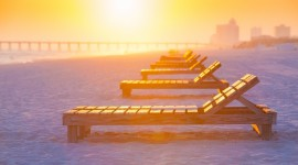 4K Beach Chairs Photo