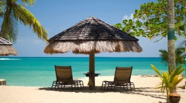 4K  Beach Chairs Photo Download