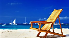 4K Beach Chairs Wallpaper For PC