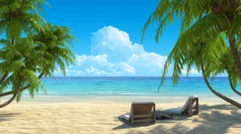 4K Beach Chairs Wallpaper Gallery