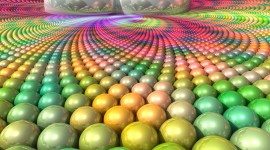 4K Colored Circles Photo Free