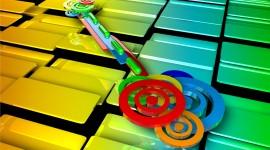 4K Colored Circles Wallpaper