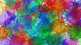 4K Paint Stains Desktop Wallpaper