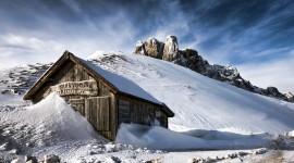 4K Snowy Hills Photo