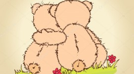 Bears Hugging Wallpaper For Android