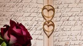 Book Ring Heart Desktop Wallpaper