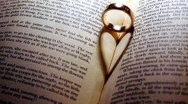 Book Ring Heart Wallpaper Download
