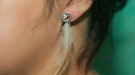 Feather Earrings Desktop Wallpaper